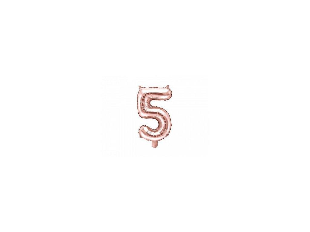 Balón fóliové číslo rose gold 5