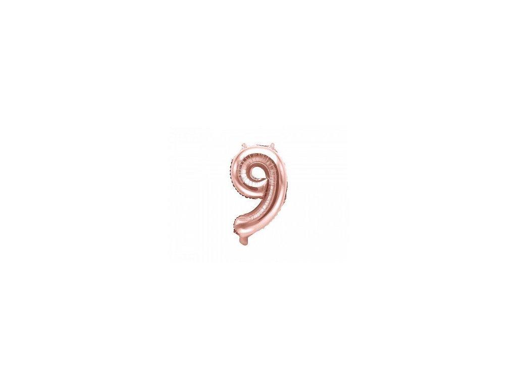 Balón fóliové číslo rose gold 9