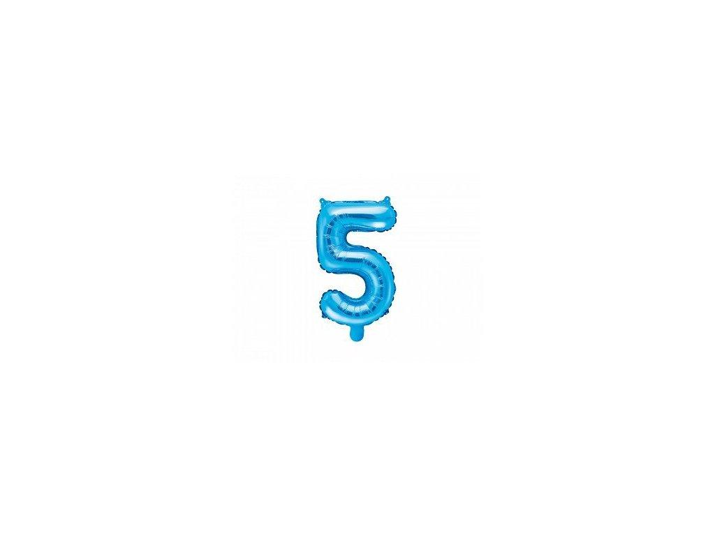 Balón fóliové číslo modré 5