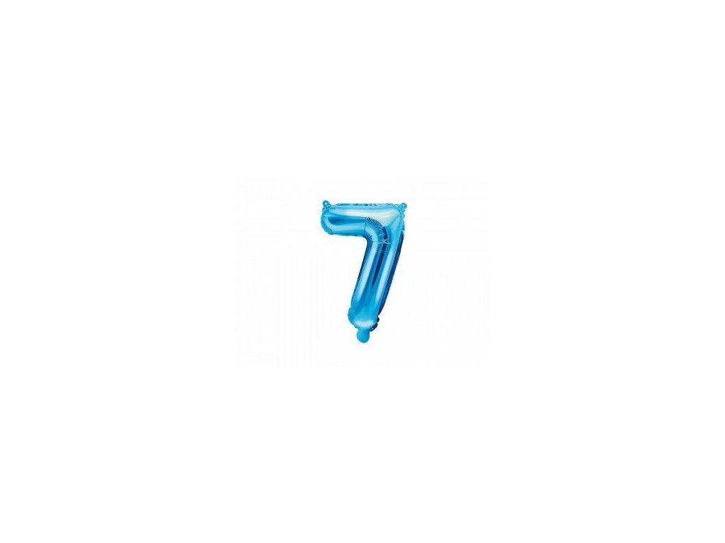 Balón fóliové číslo modré 7
