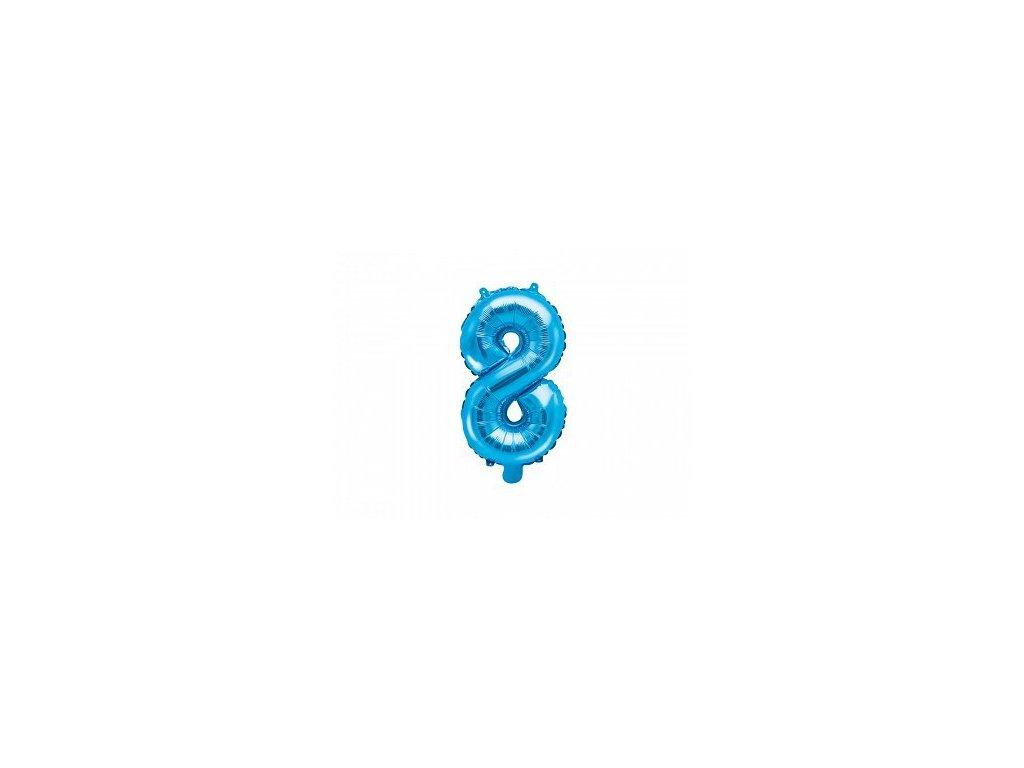Balón fóliové číslo modré 8