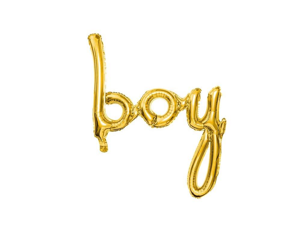Nafukovací nápis BOY zlatý