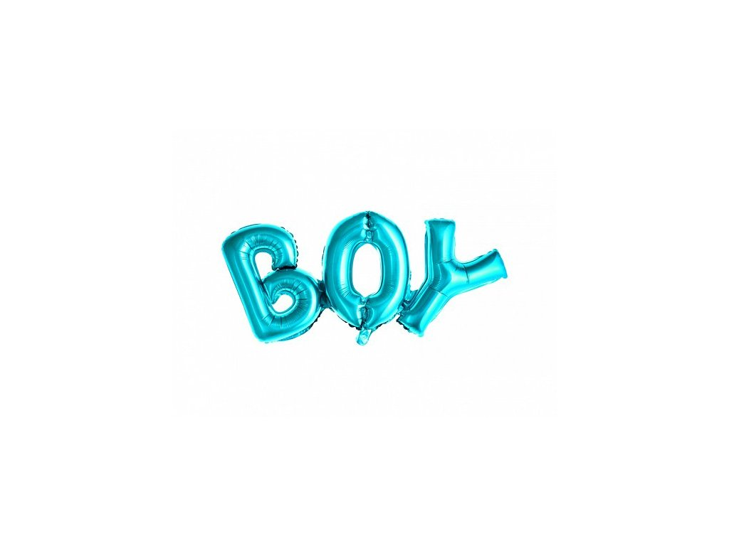 Nafukovací nápis BOY modrý