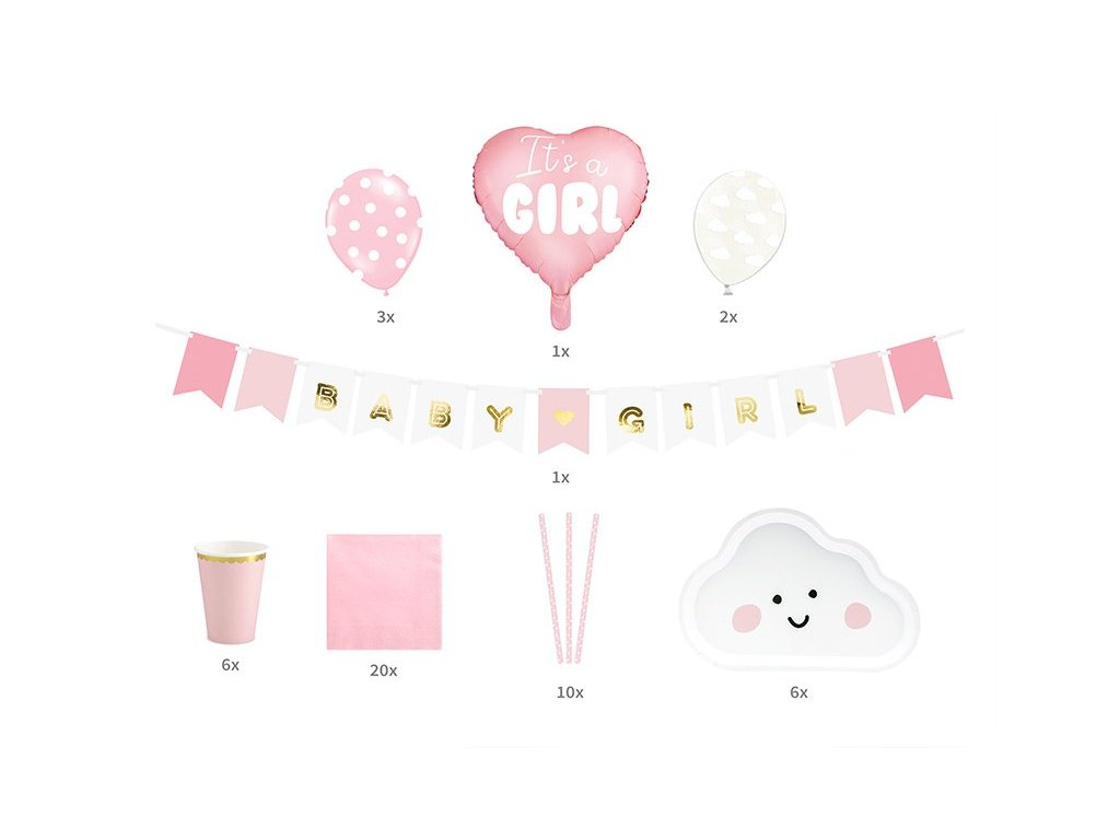 Party set It´s a girl