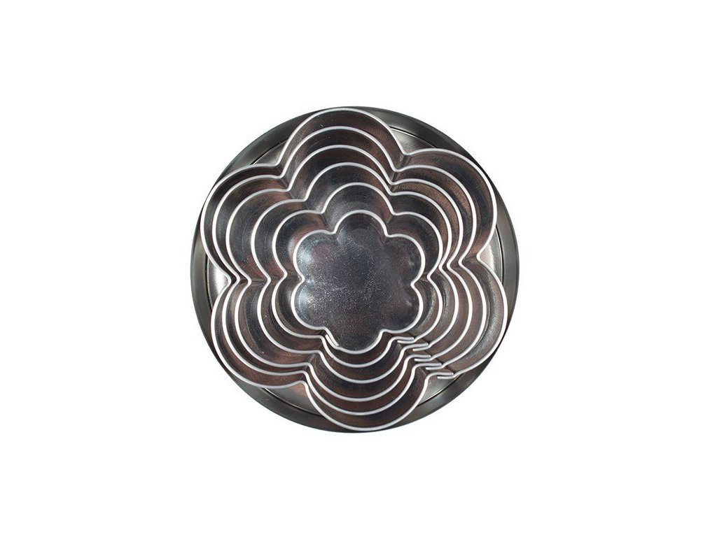 Vykrajovátka kovová kytka, sada 6 ks