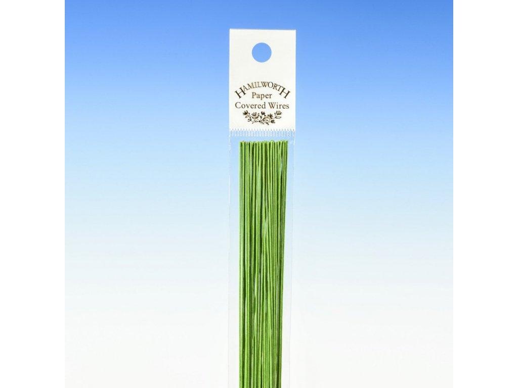 Aranžovací drát zelený č.16, HAMILWORTH, 25ks