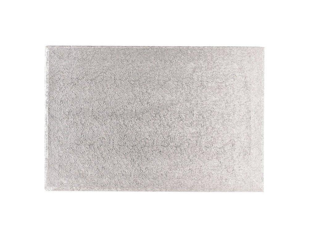 "Pevná stříbrná podložka, 12mm, 30x25cm (12""x10"")"