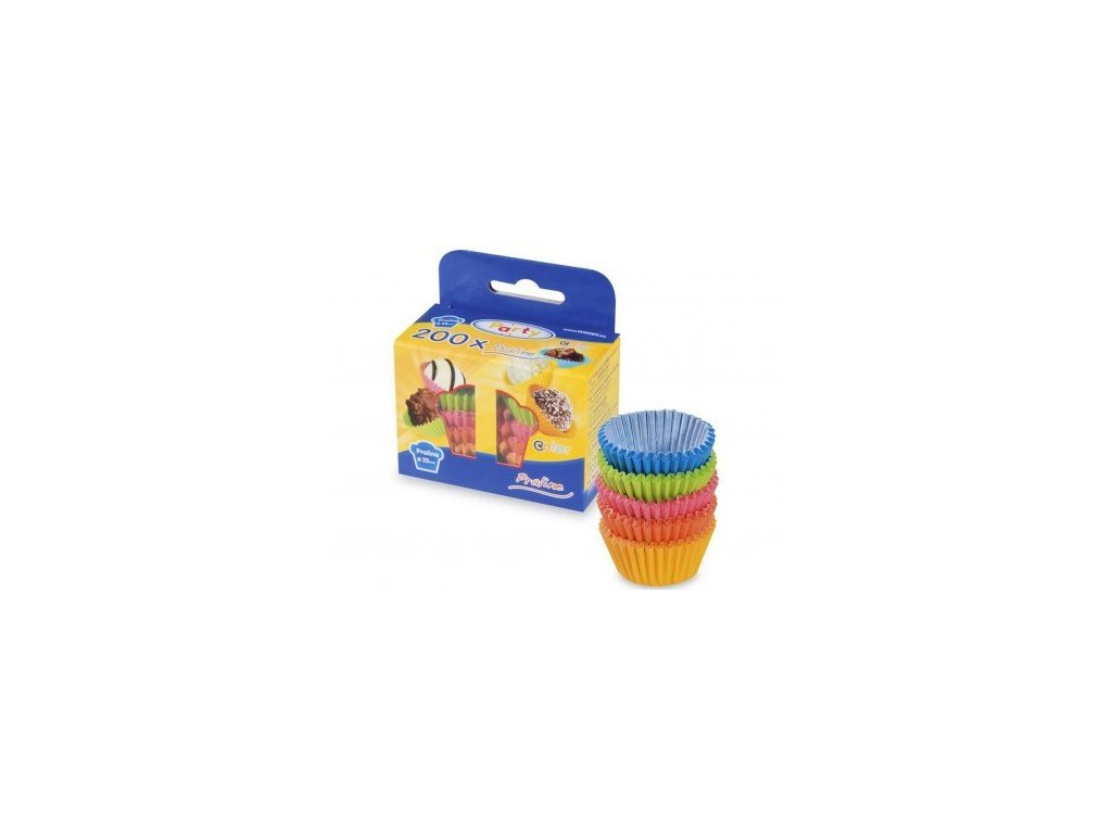 Cukrářské košíčky na pralinky 25x18mm, mix barev, 200ks