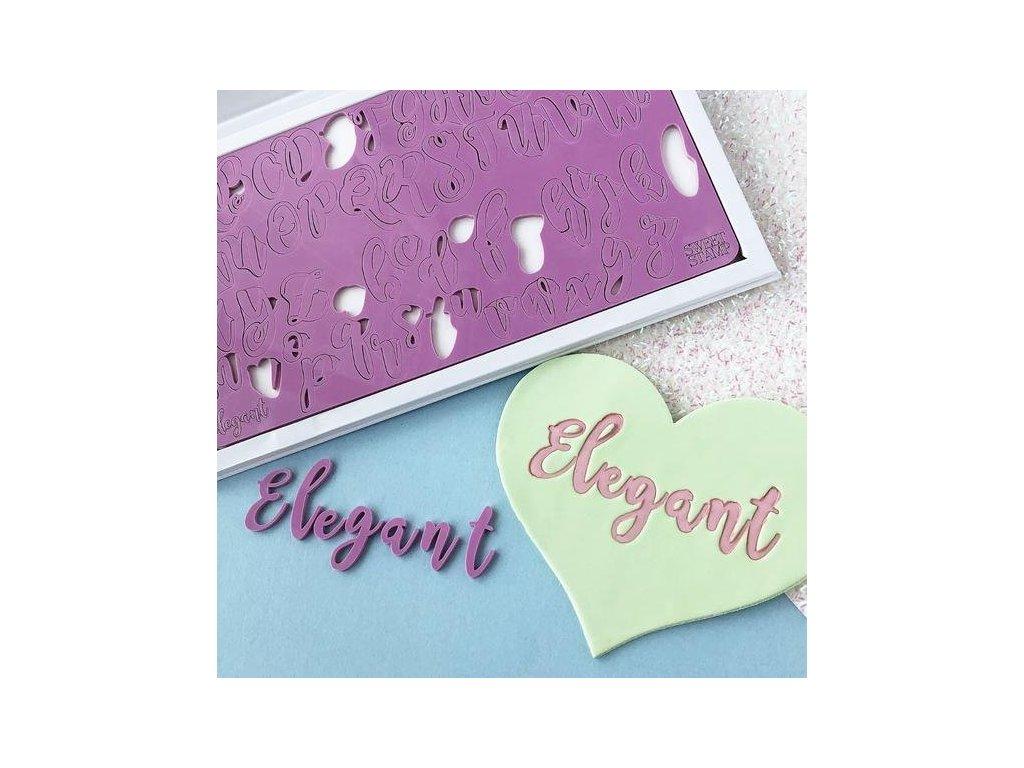 Vytlačovací abeceda Elegant Sweet Stamp