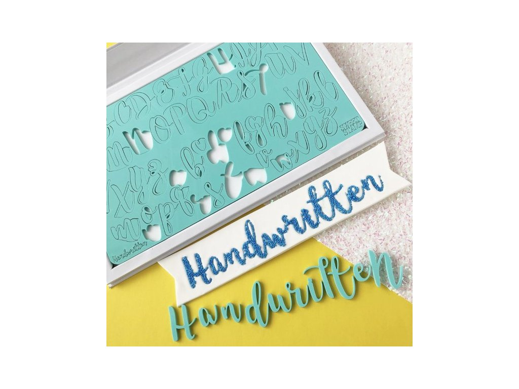 Vytlačovací abeceda Handwritten Sweet Stamp
