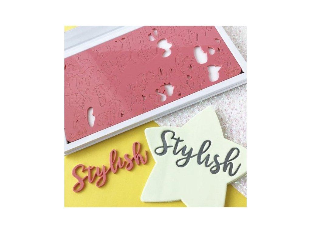 Vytlačovací abeceda Stylish Sweet Stamp