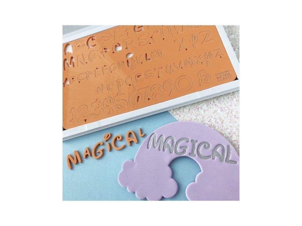 Vytlačovací abeceda Magic Sweet Stamp