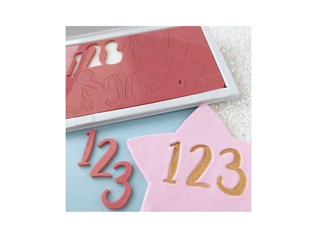 Vytlačovací čísla a symboly Stylish Sweet Stamp