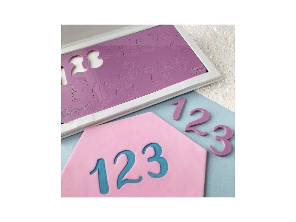 Vytlačovací čísla a symboly Elegant Sweet Stamp