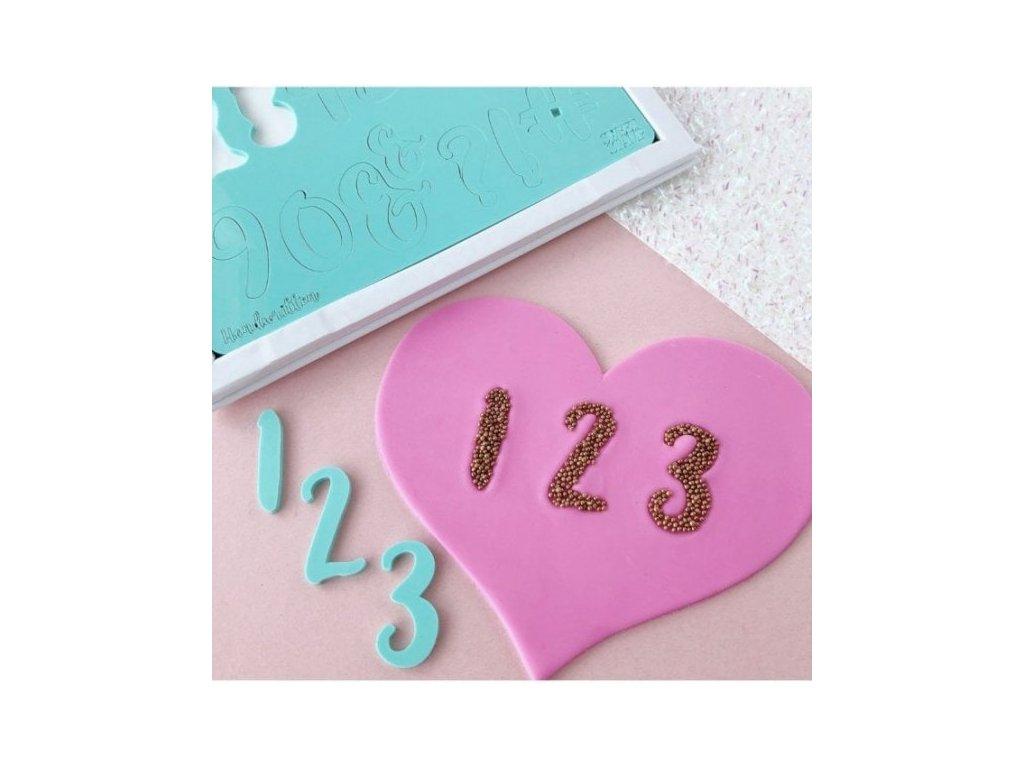 Vytlačovací čísla a symboly Handwritten Sweet Stamp