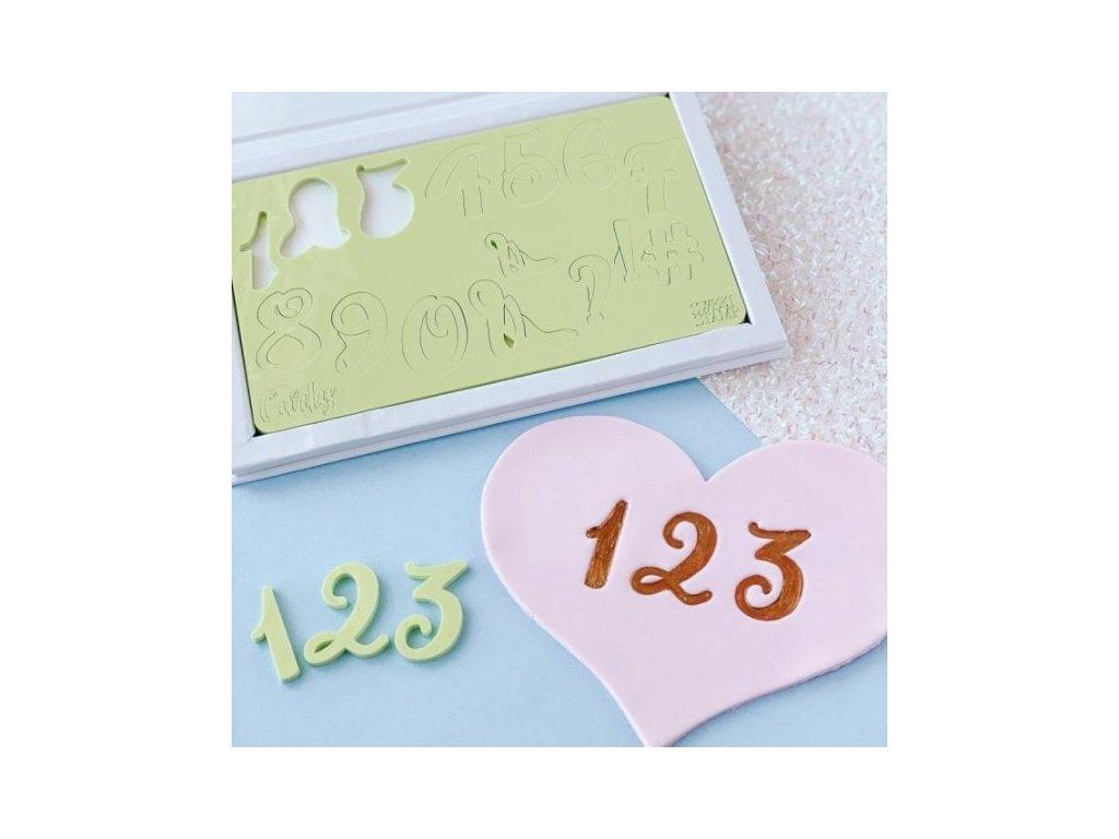 Vytlačovací čísla a symboly Curly Sweet Stamp