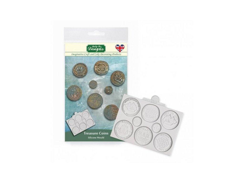 Katy Sue silikonová formička Treasure Coins