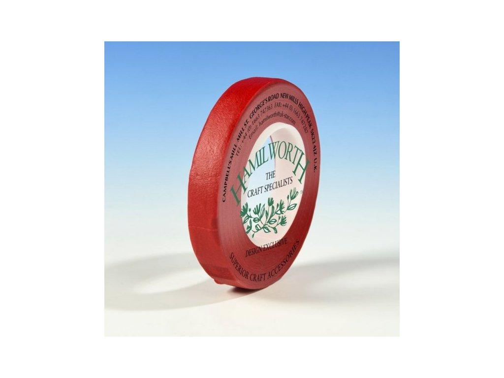 Floristická páska 12mm/27m, HAMILWORTH, červená