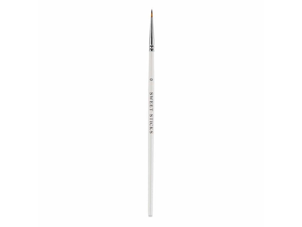 Štětec kulatý tenký #0 Sweet Sticks bílý