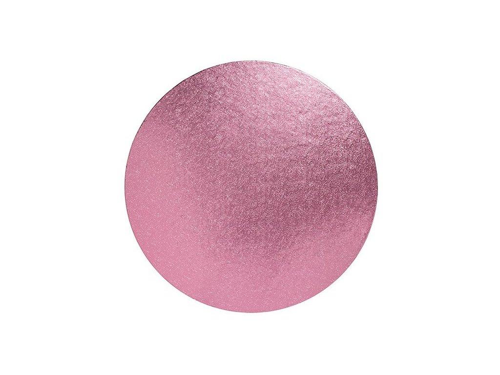 """Pevná Light Pink podložka, 12mm, pr. 25,5cm (10"""")"""