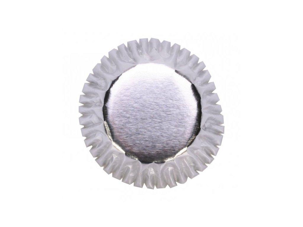 Alobalové košíčky Culpitt na pralinky 25 x 17 mm, stříbrné, 60ks