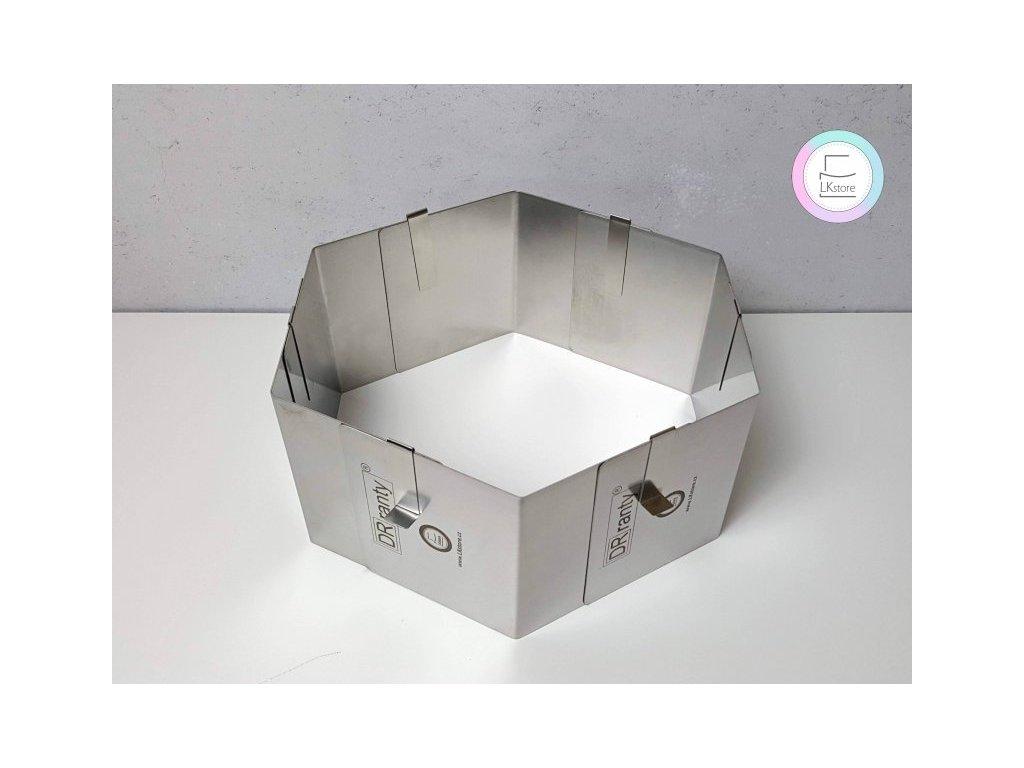 Nastavitelná forma šestiúhelník 18-32 cm