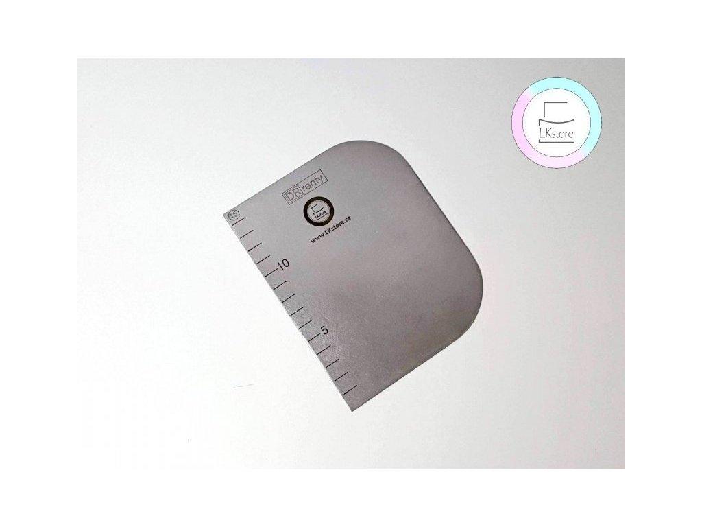 Nerezová karta s měřítkem, 15x12 cm