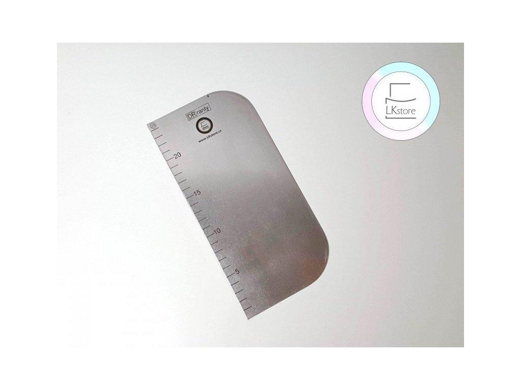 Nerezová karta s měřítkem, 25x12 cm