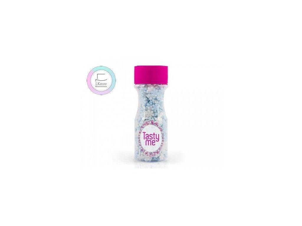Cukrové zdobení TastyMe, Snowflakes - vločky 45 g