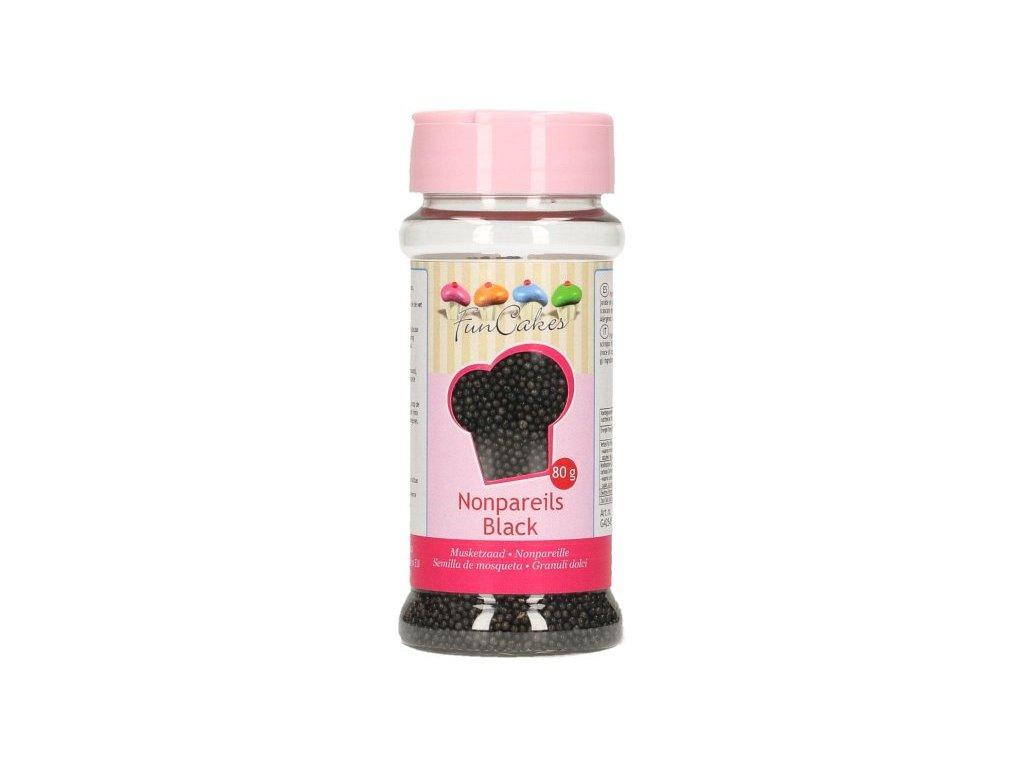 Cukrové zdobení FunCakes, máček černý 80g