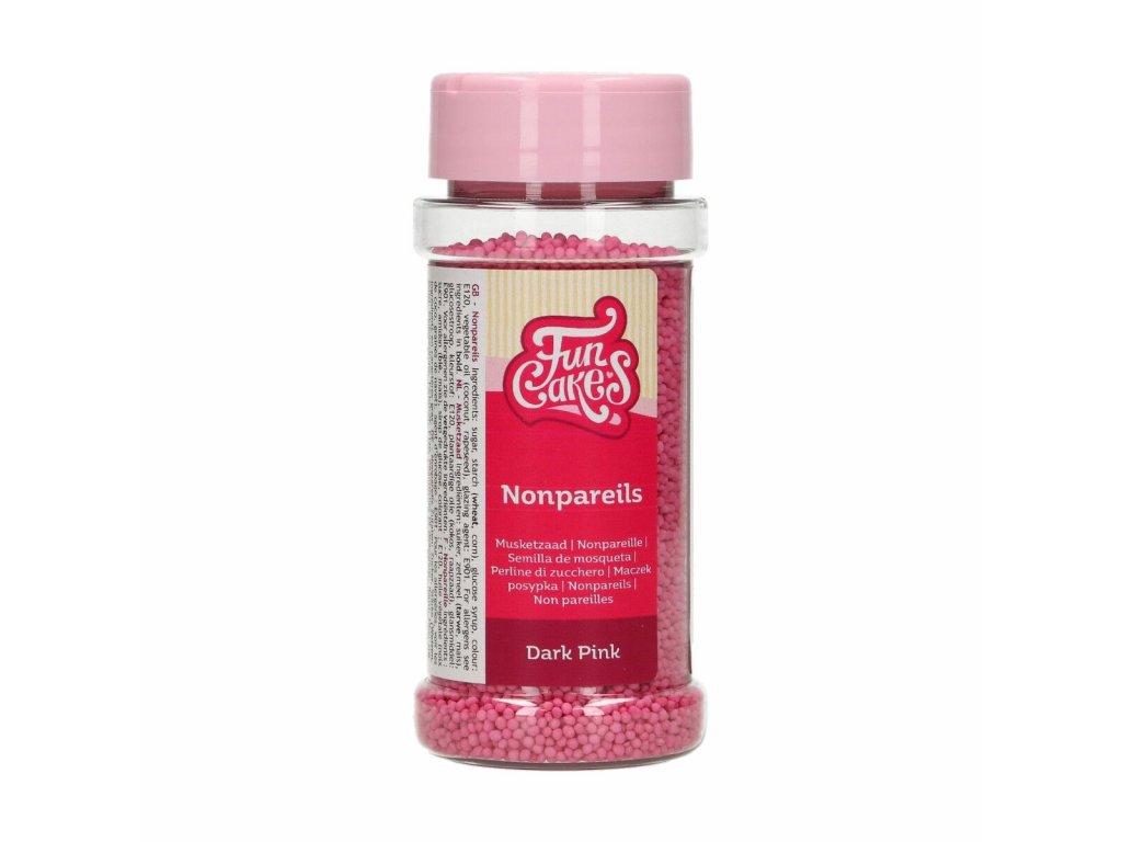 Cukrové zdobení FunCakes, máček tmavě růžový 80g