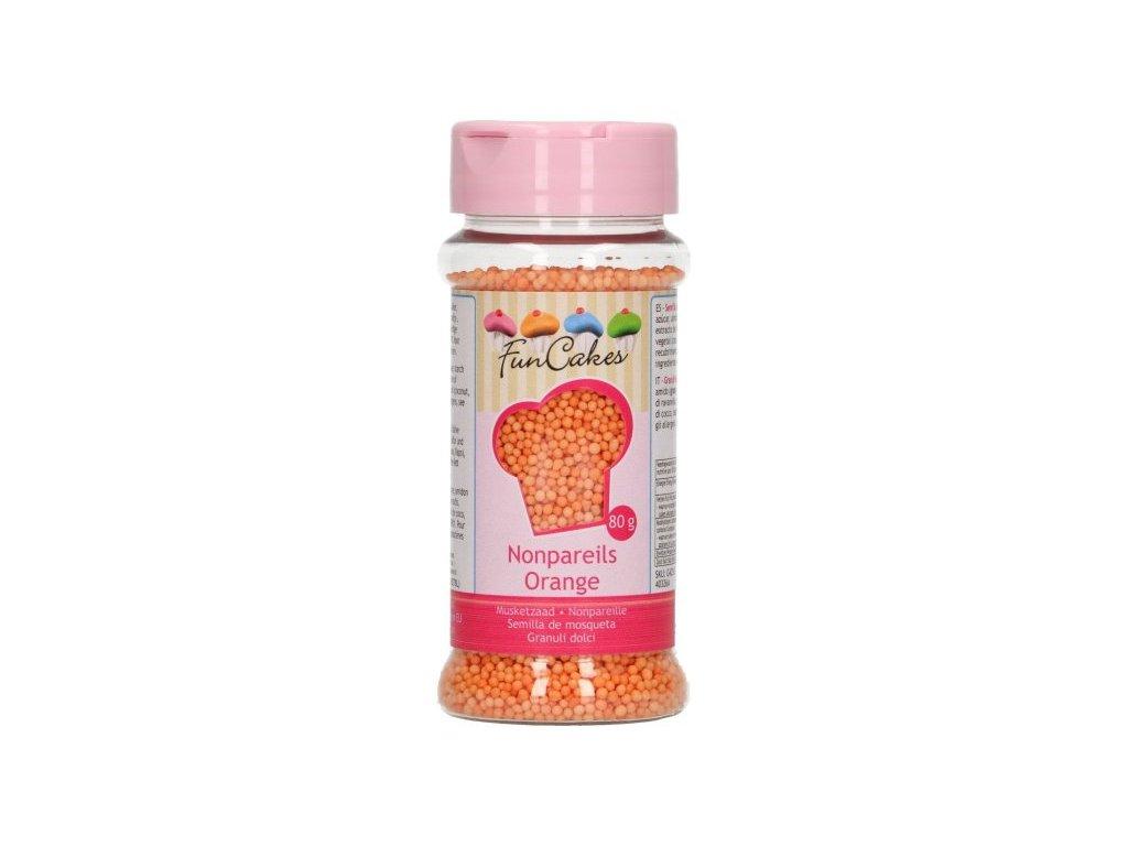 Cukrové zdobení FunCakes, máček oranžový 80g