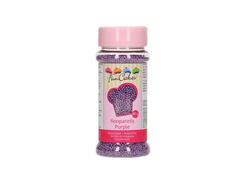 Cukrové zdobení FunCakes, máček fialový 80g