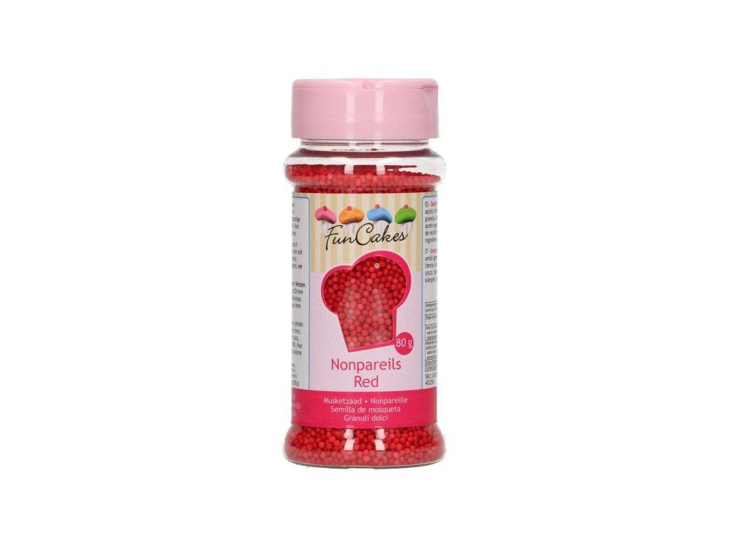 Cukrové zdobení FunCakes, máček červený 80g