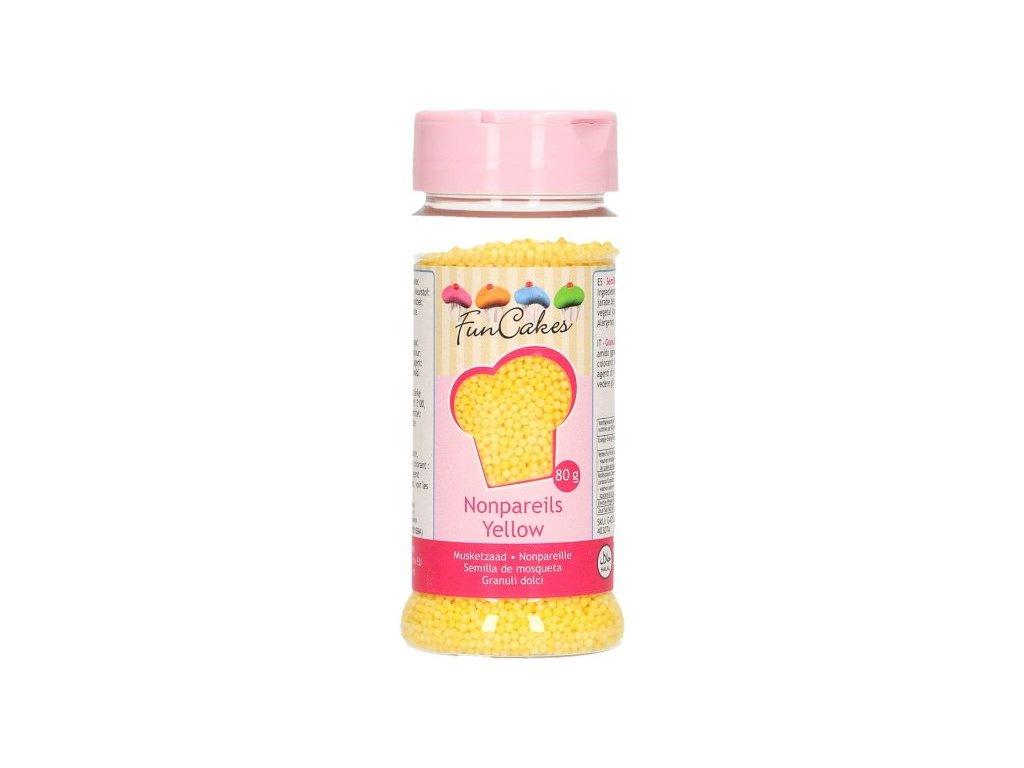 Cukrové zdobení FunCakes, máček žlutý 80g