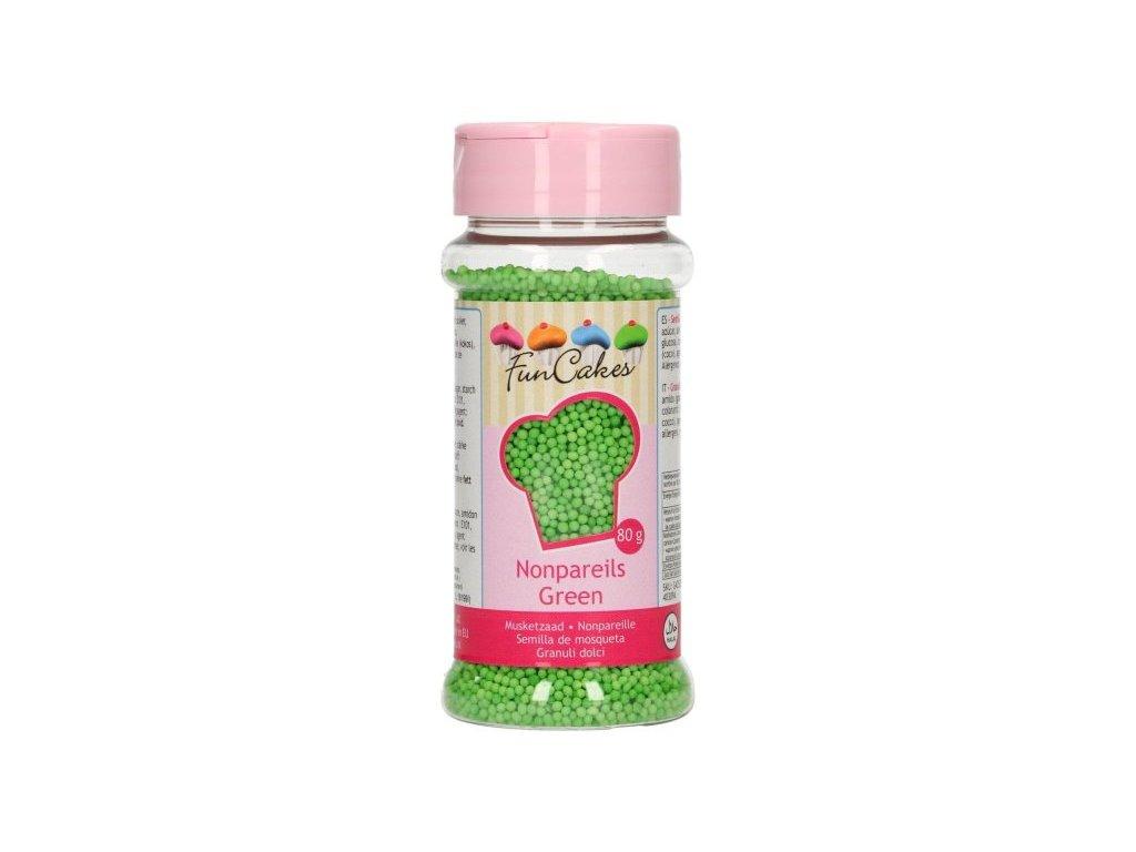 Cukrové zdobení FunCakes, máček zelený 80g
