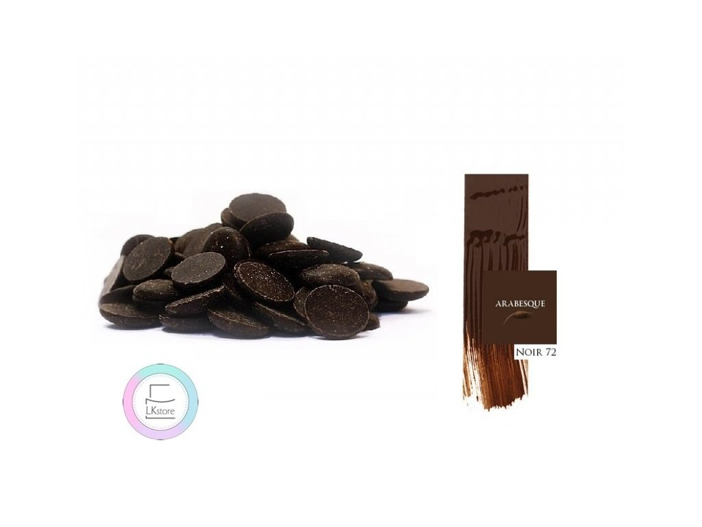 Hořká čokoláda Arabesque Noir 72%, 500 g