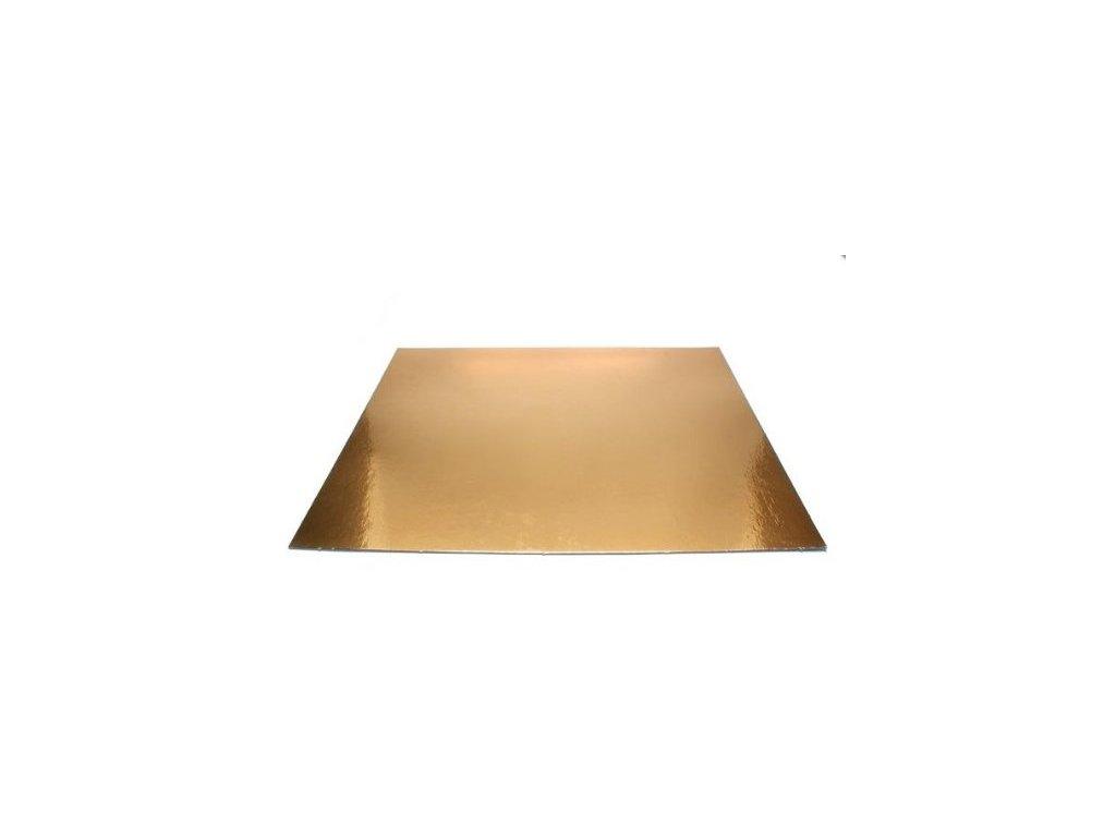 Pevná zlatá podložka, 3mm, 25x25cm