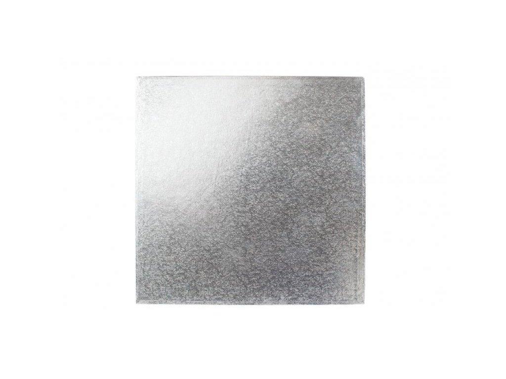 "Pevná stříbrná podložka, 12mm, 23x23cm (9"")"