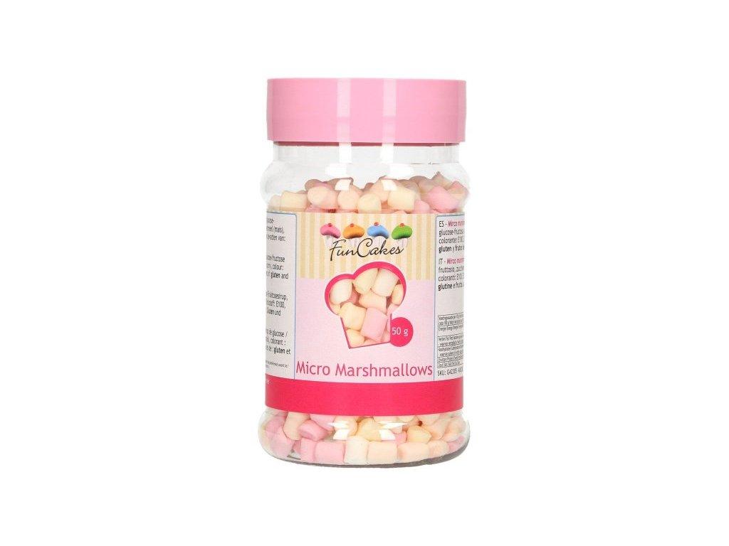 Cukrové zdobení FunCakes, Micro Marshmallows 50g