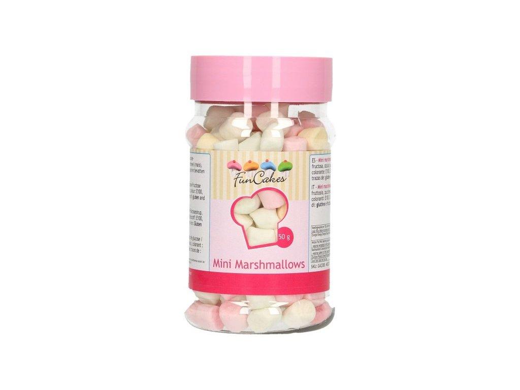 Cukrové zdobení FunCakes, Mini Marshmallows 50g