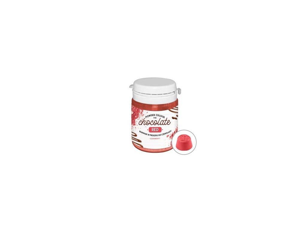 Prachová barva do čokolády Red - červená, 20g, Food Colours