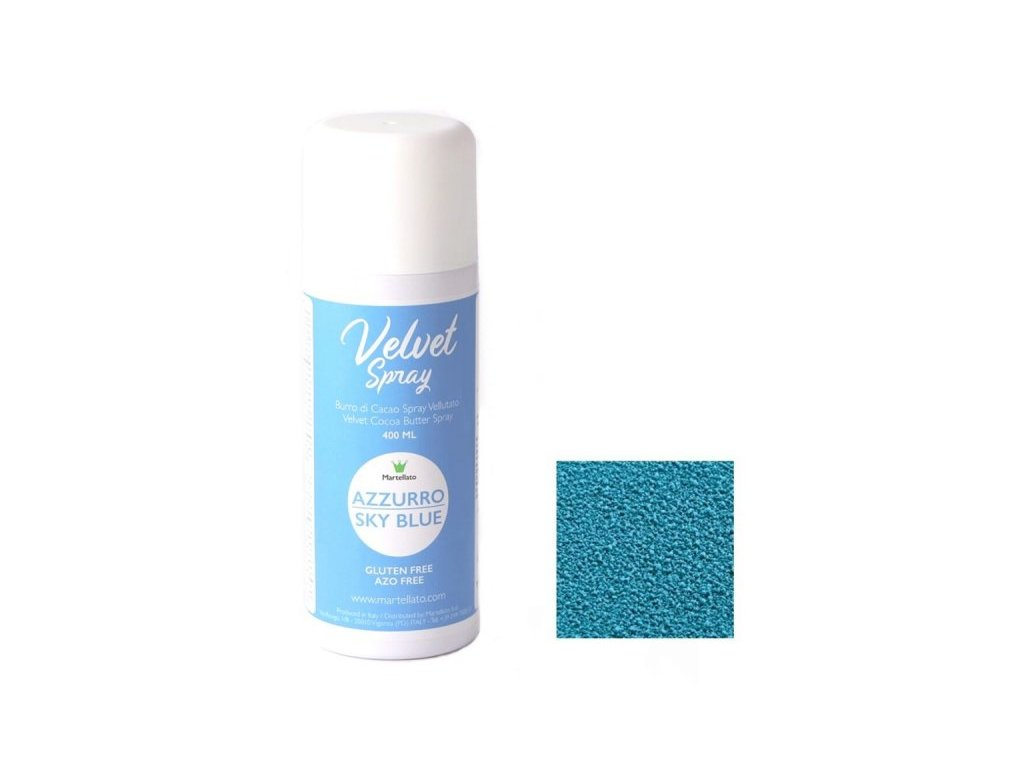 Sprej Velvet SKY BLUE Martellato, 400 ml
