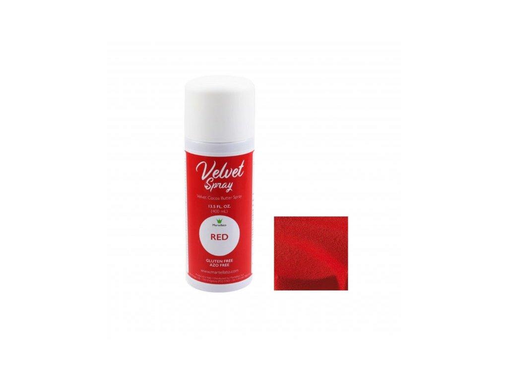 Sprej Velvet RED Martellato, 400 ml