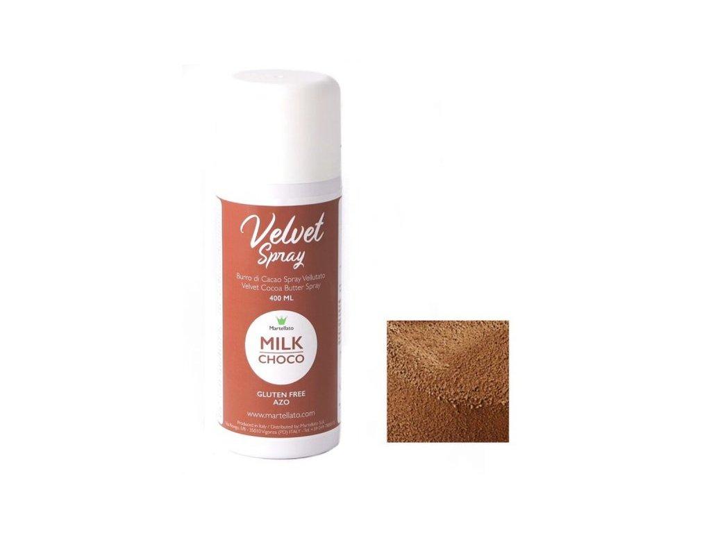 Sprej Velvet MILK CHOCO Martellato, 400 ml