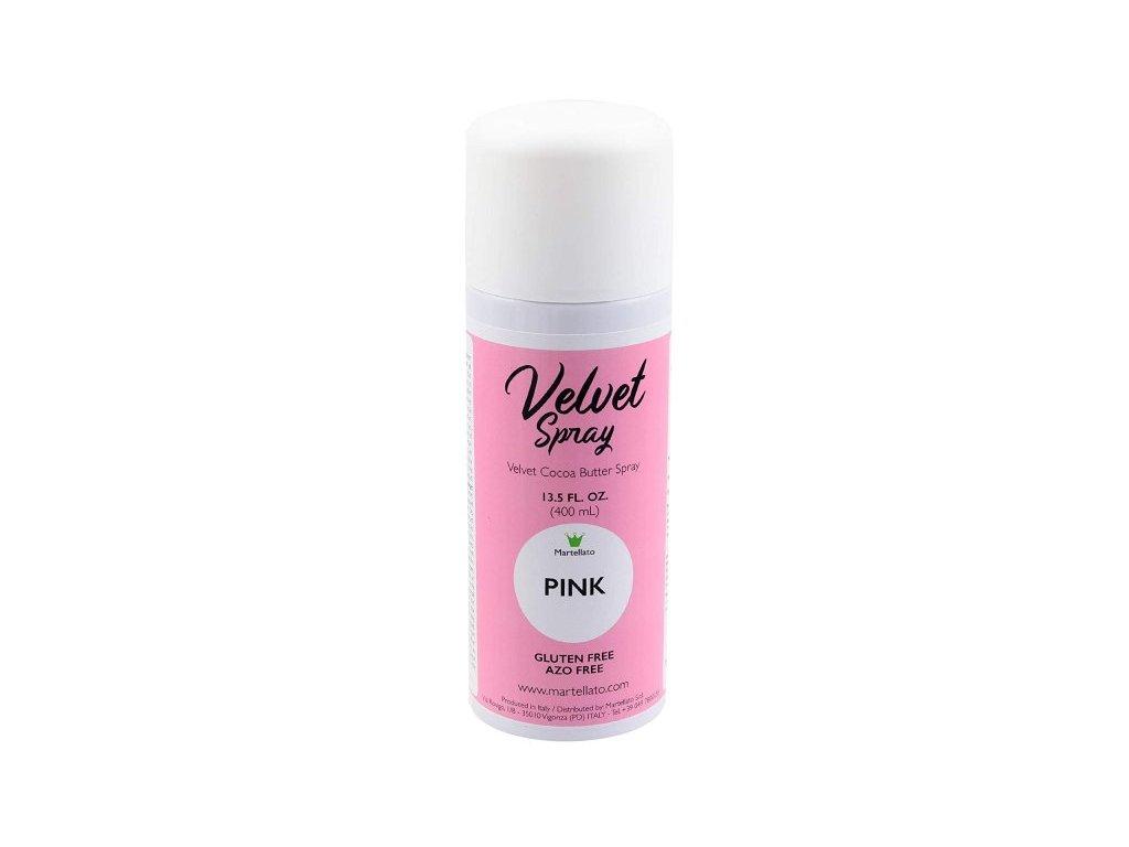 Sprej Velvet PINK Martellato, 400 ml