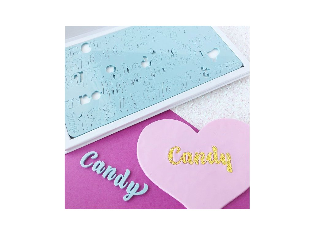 Vytlačovací abeceda Candy, Sweet Stamp