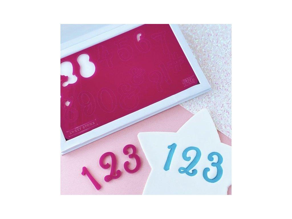 Vytlačovací čísla a symboly Sweet Sticks, Sweet Stamp
