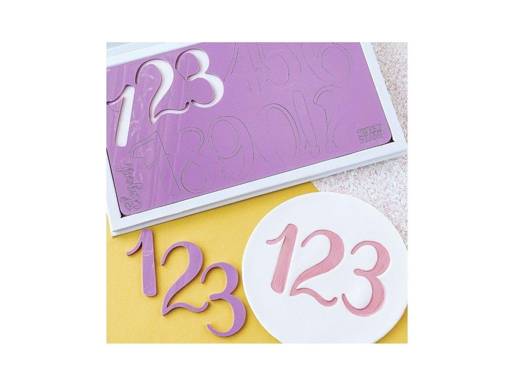 Vytlačovací čísla a symboly Giant Elegant, Sweet Stamp