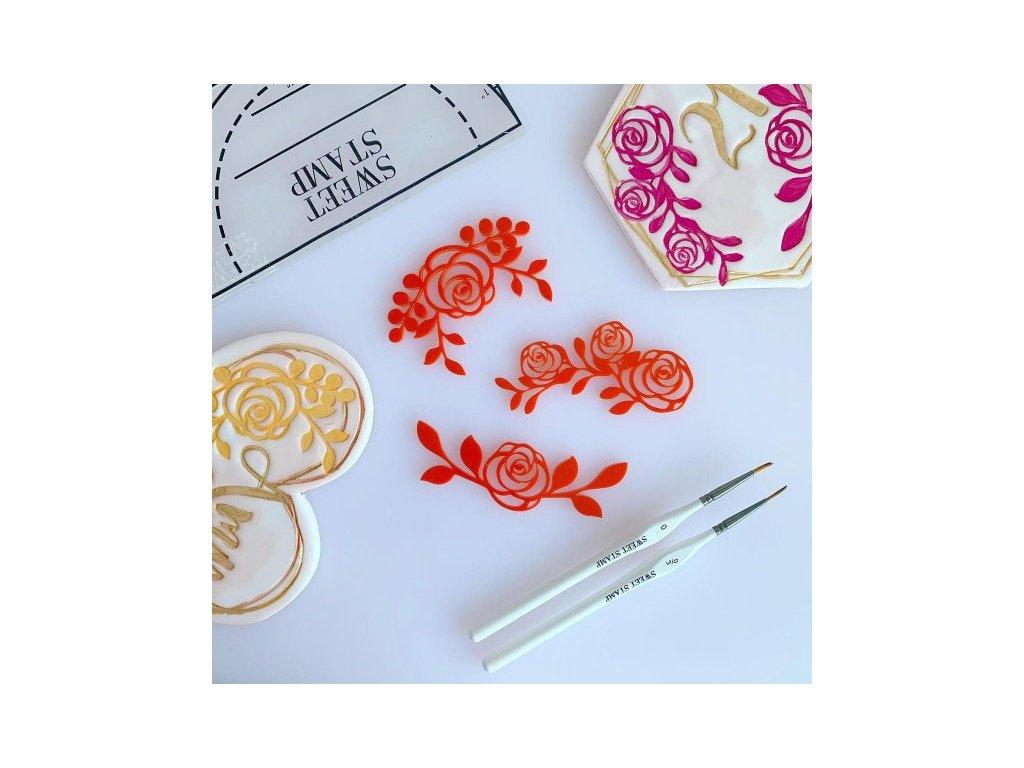 Vytlačovací set Rose Frames, Sweet Stamp